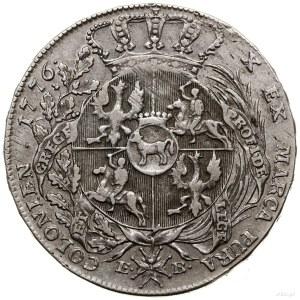 Talar, 1776 EB, Warszawa; Aw: Popiersie króla w zbroi, ...