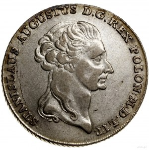 Talar 1795, Warszawa; Aw: Głowa króla w prawo, wokoło n...