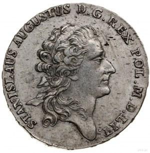 Półtalar, 1772 AP, Warszawa; odmiana z dłuższą wstążką ...
