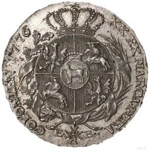Półtalar, 1776, Warszawa; bardzo ciekawa odmiana z prze...
