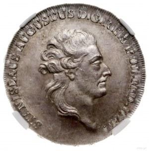 Półtalar, 1784 EB, Warszawa; Aw: Głowa króla w prawo, w...