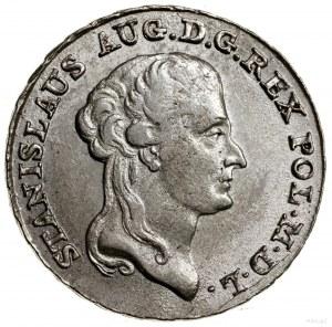 Dwuzłotówka, 1789 EB, Warszawa; pod tarczą herbową lite...