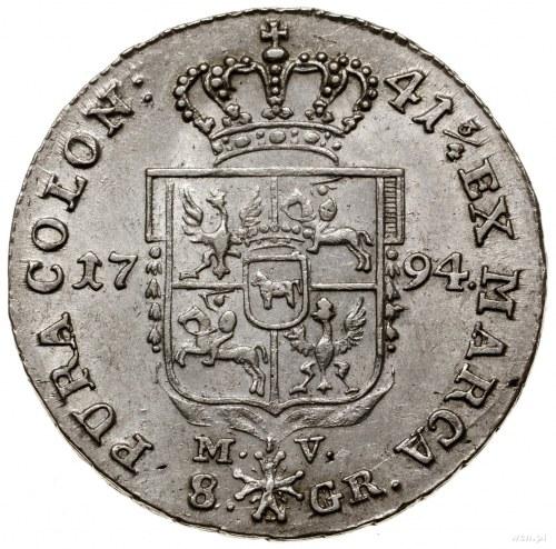 Dwuzłotówka, 1794 MV, Warszawa; odmiana z napisem 41 3/...