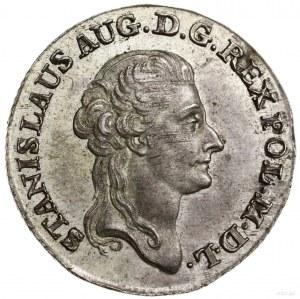 Złotówka, 1787 EB, Warszawa; litery E-B (inicjały mince...