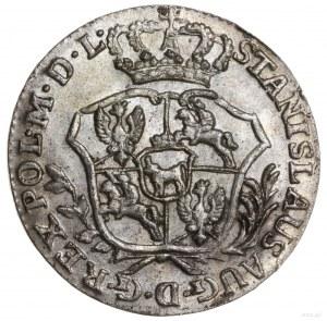 Półzłotek, 1767 FS, Warszawa; odmiana z szerszą tarczą ...