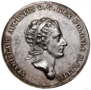 Talar próbny, 1771, Warszawa; Aw: Głowa króla w przepas...