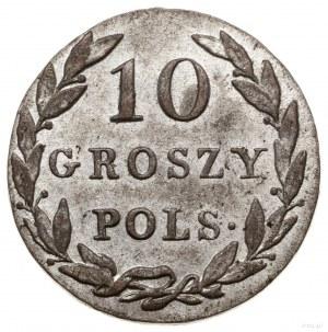 10 groszy, 1825 IB, Warszawa; Bitkin 853, H-Cz. 3586, P...