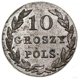 10 groszy, 1830 KG, Warszawa; odmiana z inicjałami K - ...