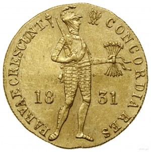Dukat, 1831, Warszawa; Aw: Stojący rycerz z mieczem i p...