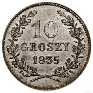 10 groszy, 1835, Wiedeń; Bitkin 2, H-Cz. 3824, Kop. 785...