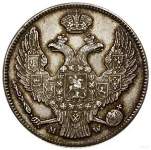30 kopiejek = 2 złote, 1839 MW, Warszawa; odmiana z ogo...