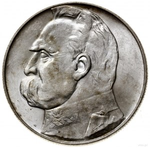 10 złotych, 1938, Warszawa; Józef Piłsudski; Kop. 3006 ...