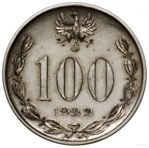 100 (marek), 1922, Warszawa; Józef Piłsudski; Parchimow...