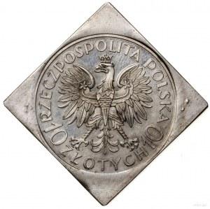 Klipa 10 złotych, 1933, Warszawa; Romuald Traugutt; Par...