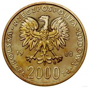 2.000 złotych, 1980, Warszawa; XIII Zimowe Igrzyska Oli...