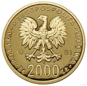 2.000 złotych, 1981, Warszawa; Władysław I Herman (1079...