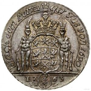 2/3 talara (gulden), 1763, Szczecin; inicjały IH–L (min...