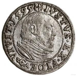 Grosz, 1595, Królewiec; Henckel 3172a, Slg Marienburg 1...