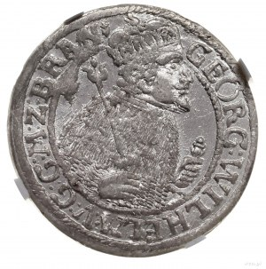 Ort, 1624, Królewiec; popiersie księcia w płaszczu elek...