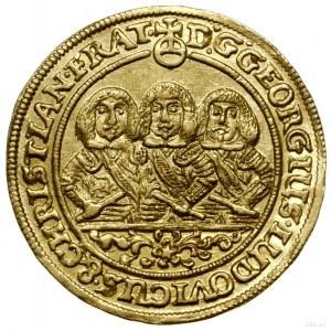 Dukat, 1660, Brzeg; Aw: Półpostacie trzech braci i napi...