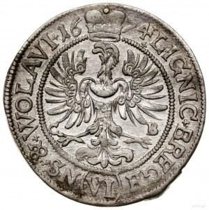 6 krajcarów, 1674, Brzeg; odmiana z dużą głową księcia;...
