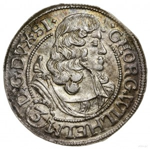 3 krajcary, 1675, Brzeg; na awersie końcówka SI; E.-M. ...