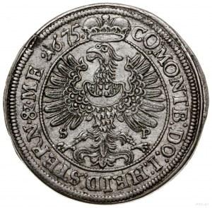 15 krajcarów, 1675, Oleśnica; litery S-P (mincerza Samu...