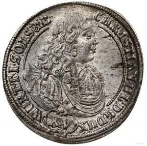 15 krajcarów, 1679, Oleśnica; odmiana z dłuższym napi...