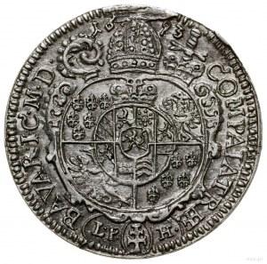 6 krajcarów, 1693 LPH, Nysa; odmiana z podwójnym krzyże...