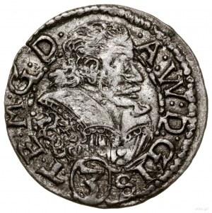 3 krajcary, 1609, Cieszyn; Aw: Popiersie księcia zwróco...