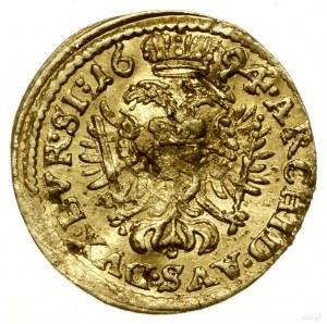 1/6 dukata, 1694 SHS, Wrocław; data przebita z roku 169...