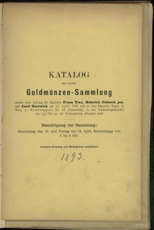Zestaw dwóch katalogów w jednej oprawie: 1) Dr. Eugen M...