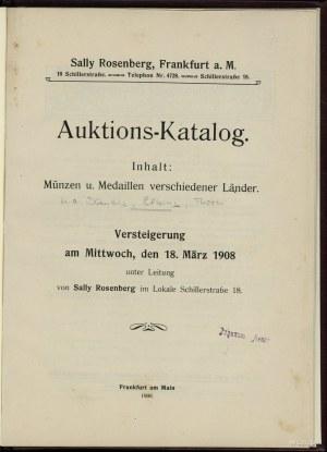 Sally Rosenberg – Auktions-Katalog. Inhalt: Münzen u. M...
