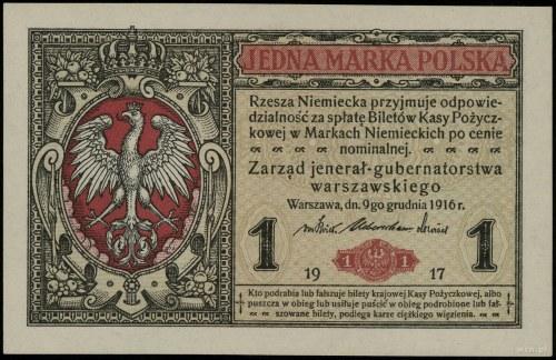 "1 marka polska, 9.12.1916; ""jenerał"", seria A, numeracj..."