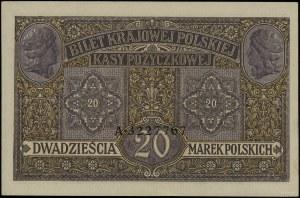 """20 marek polskich, 9.12.1916; """"jenerał"""", seria A, numer..."""