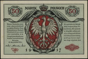 """50 marek polskich, 9.12.1916; """"jenerał"""", seria A, numer..."""