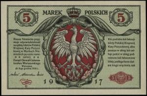 """5 marek polskich, 9.12.1916; """"Generał"""", """"biletów"""", seri..."""
