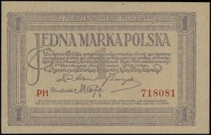 1 marka polska, 17.05.1919; seria PH, numeracja 718081;...