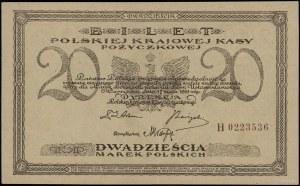 20 marek polskich, 17.05.1919; seria H, numeracja 02235...