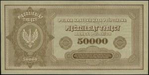 50.000 marek polskich, 10.10.1922; seria L, numeracja 4...