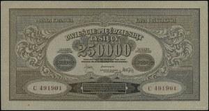 250.000 marek polskich, 25.04.1923; seria C, numeracja ...
