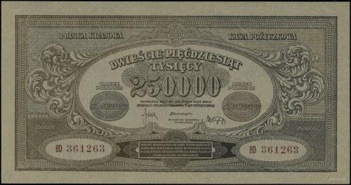 250.000 marek polskich, 25.04.1923; seria BD, numeracja...