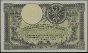 500 złotych, 28.02.1919; seria A, numeracja 3318843; Lu...