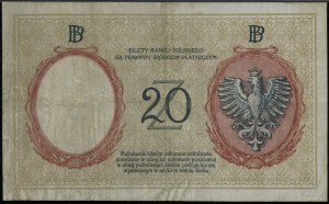 20 złotych, 15.07.1924; seria II EM. B, numeracja 08829...