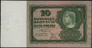Zielona próba kolorystyczna banknotu 10 złotych emisji ...