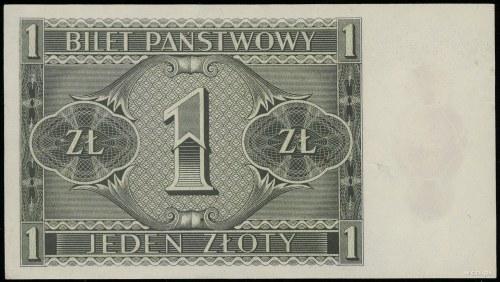 1 złoty, 1.10.1938; seria IG, numeracja 6484934; Lucow ...