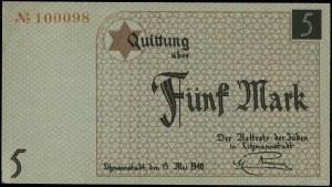 5 marek, 15.05.1940; bez oznaczenia serii, numeracja 10...