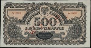 500 złotych, 1944, w klauzuli OBOWIĄZKOWE, seria Az 123...