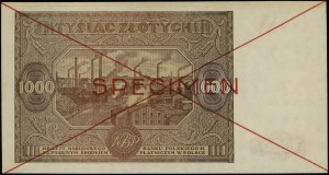 1.000 złotych, 15.01.1946; seria B 1234567 / B 8900000,...