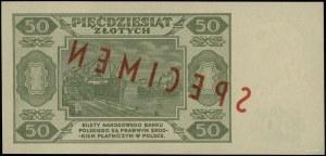 50 złotych, 1.07.1948; seria A; numeracja 1234567 / 890...